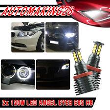 CREE LED 240W H8 Xenon 7000k Angel Eye Halo Ring Bulb For BMW E60 E70 E90 E92