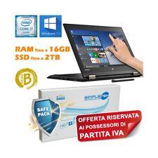 """Portable Lenovo Yoga 260 I7 6500U 12,5 """" Tactile Nvme Ultrabook"""