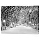 New York Winter Canvas Print | Framed Ready to Hang Monochrome Art Photography