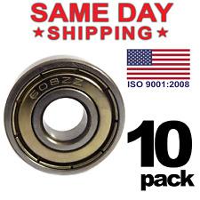 608-ZZ Ball Bearing 8x22x7 Dual Shielded Metal Chrome Skateboard 608Z 10 PCS LOT