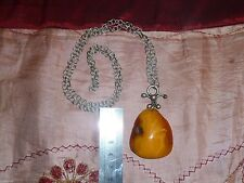 OLD ANTIQUE VINTAGE BALTIC AMBER STONE NECKLACE EGG YOLK BUTTERSCOTCH