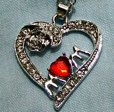 MUM ~WITH_A_HEART  NECKLACE -- (GREAT _CHRISTMAS_ GIFT)