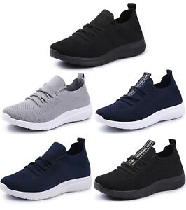 Ladies Women Running Trainers Get Fit Gym Sports Breathable Comfy Lace Up Shoes
