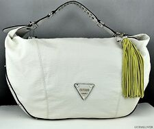 NWT Borsetta GUESS Satchel WILD AT HEART Donna latte BAG