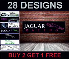 JAGUAR COURSE DRAPEAU pour atelier, garage, Man Grotte rétro mécanique Poster