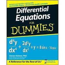 Differential Equations for Dummies by Steven Holzner (2008, Paperback)