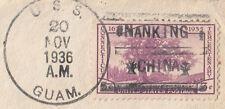 USA navy ship U.S.S Guam NANKING CHINA slogan postmark 3c stamp cover Australia