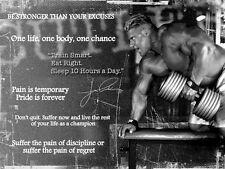 Bodybuilding Jay Cutler inspiration / motivation poster / impression / photo