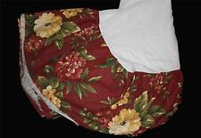 Waverly Chic Bold FLORAL MANOR Full / Double Bedskirt Maroon EXC / UNUSED?