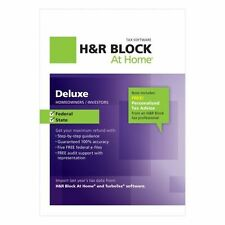 H&R Block At Home Deluxe Federal + State 2012 with e-file 4 PC & Mac Brand NEW
