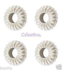 40 washer acrylique perles-couleur argent plat rond anneaux striés 10mm-PB46