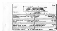 1966  Illinois Central Diesel Locomotive Diagrams Drawings