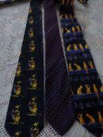 lot homme 3 belles cravates  soie 100%