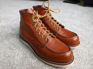 Red wing 875 Moc Toe Boots Size UK 9