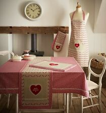 Gingham Check Table Cloth 100% Cotton Kitchen HomeMade Dining Table Linen Cover