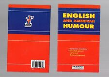 english and american humour -- modern publishing house - new
