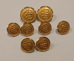Brooks Brothers brand new Waterbury 8 Gold Buttons Replacement