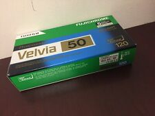 5 Rolls Fujifilm Fujichrome Velvia 50 Color Reversal Slide Film 120 Expired 2016