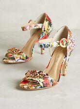 NEW Anthropologie Raphaella Booz Floral Jardinage Sandals Heels Shoes Gems $148