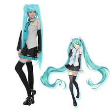 Vocaloid Hatsune Miku Uniform Dress Costume Top & Skirt Suit Anime Cosplay Party