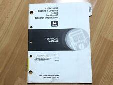 John Deere 410d 510d Backhoe Loader Technical Repair Manual General Info