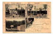 1907, AK Gruss aus Neu-Finkenkrug, Restaurant Lindenpark, Gartenhalle, Kegelbahn