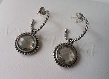Pandora Inspired Bloom Green Amethyst Compose Earrings 290644GAM & Posts. New.