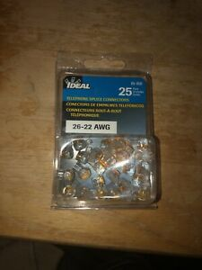 IDEAL TELEPHONE SPLICE CONNECTORS 26-22 AWG 2 WIRE 85-950 19 PCS