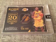 2016 Panini Eternal Kobe Bryant Lakers Logo Patch Game Used Jersey Tag #1/1