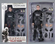 "12""Soldier SWAT Black Uniform Model Toy Military Army Suit Retail Box Collection"