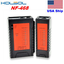 Nf-468 Automatic Test Rj11& Rj45 Cable Tester Visible Led Status Display