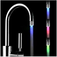 Farbwechsel LED Licht Wasserhahn Wasser Armatur Aufsatz Dekor7 Farben Neu'/yh