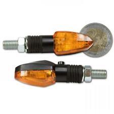 LED Motorrad Blinker LIZZARD silber klares Glas