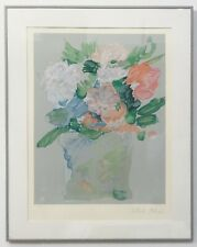 """PETER MAX """"SPRING BOUQUET"""" LITHOGRAPH ON PAPER HAND SIGNED & NUMBERED FRAMED COA"""