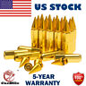 20x Gold 60mm M12X1.5 Cap Spiked Extended Tuner Aluminum Wheels Rims Lug Nuts US