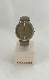 Oozoo Uhr Armbanduhr Designuhr - Vintage - Taupe / Rose Gold Ø ca. 40 mm - C8888