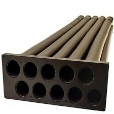 Lund Boats 2068010 Black 48 x 14 x7 Inch Plastic Marine Rod Holder w/ 10 Tubes
