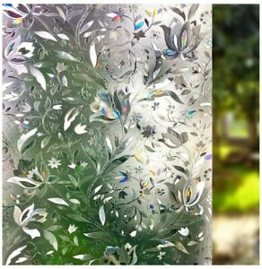 3D Window Film Static Cling Decorative Privacy Films Window Frost Film for Glass
