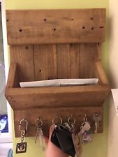 Rustic letter and key holder