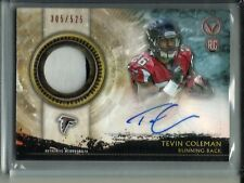 Tevin Coleman 2015 Topps Valor Autograph Game Jersey Patch Rookie #305/525