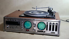 Vintage Sanyo DXT-5489A Stereo/ Garrard turntable/ 8 Track