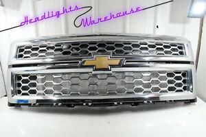 GENUINE OEM | 2014 - 2015 Chevy Silverado 1500 Front Chrome Grille w/ Emblem