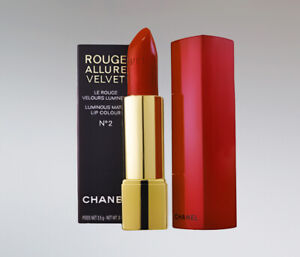 CHANEL ROUGE ALLURE VELVET LIPSTICK HOLIDAY NO.2 BNIB RED CASE HTF