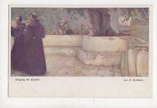 Eichhorn Eingang Ins Kloster Vintage Art Postcard 257b