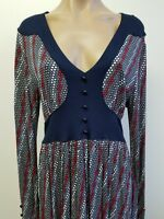 H&M Dress Womens Size Red White and Blue Long Sleeve Stretch Dress Size 12