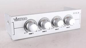 Vivanco 4 x Lüftersteuerung PC Speed Fan Controller 5,25 Zoll