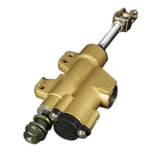 Rear Motorcycle Dirt Pit Bike ATV Hydraulic Foot Master Brake Cylinder Gold L9H9