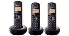 Panasonic KX-TGB213E Expandable Cordless Phone - Triple Handsets - Black