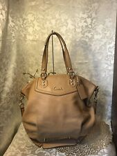 COACH ASHLEY F23684 Leather Tote Shoulder Bag 2 Way Satchel CAMEL COLOR EUC