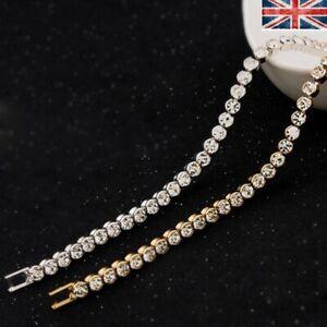 Jewelry Wedding Women Zircon Diamante Sparkling Crystal Bangle Bracelet